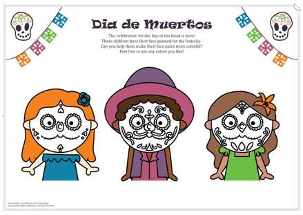 Dia de Muertos 2017 Activity Page-white background