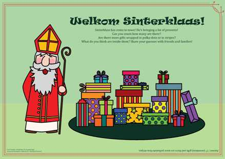 Sinterklaas 2017 Activity Page-colored background