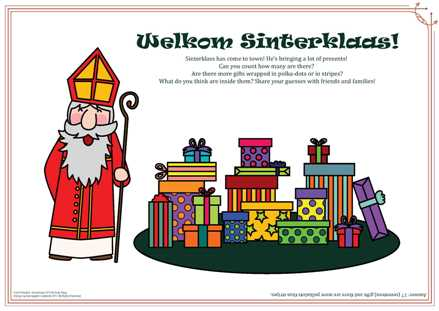 Sinterklaas 2017 Activity Page-white background