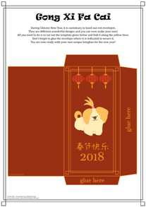 12 Chinese New Year 2018 Activity Page - white background